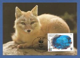 Kirgisistan 1999 , Steppenfuchs / Corsac Fox - Official WWF Hologram Maximum Card   27.04.1999 - Kirgisistan