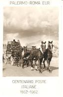 ITALIA - 1962 4^ Giornata Del Francobollo - Cent. Poste Italiane PALERMO-ROMA Su Cartolina Speciale - Giornata Del Francobollo