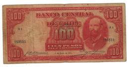Chile 100 Pesos / 10 Condores, 1933, G/F Dirt. Rare. - Chile