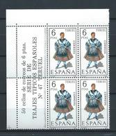 ESPAÑA 1970 - ED. 1959 ** TRAJES TERUEL BL.4 - 1931-Aujourd'hui: II. République - ....Juan Carlos I