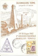 ITALIA - 1963 SALSOMAGGIORE TERME (PR) 2° Convegno Filatelisti Tematici - Timbro Viola Su Cartolina Speciale - Esposizioni Filateliche