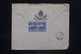 SAINT MARIN - Enveloppe Pour La France En 1908 , Affranchissement En Paire Au Verso - L 25680 - Saint-Marin