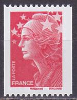 Timbre Neuf ** N° 4240(Yvert) France 2008 - Marianne De Beaujard Roulette, N° Noir Au Verso à Droite - 2008-13 Maríanne De Beaujard