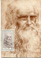 43823 Albania, Maximum 1969, Self Portrait Of Leonardo Da Vinci,  Selbsbildnis - Arte