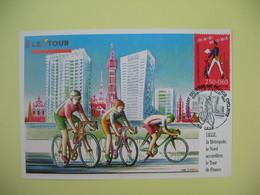 Carte Maximum 1993  N° 2792  Départ Du Tour De France Cycliste  Cachet Lille - Cartes-Maximum