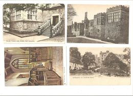 FOUR CARDS  OF HADDON HALL DERBYSHIRE STATELY HOME COUNTRY HOUSE - Derbyshire