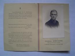 CARTE Ancienne : RESISTANCE / MORT POUR LA FRANCE / JACQUES MORTAGNE 1922 - 1945 - Documents Historiques