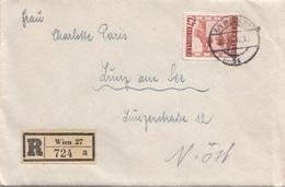 ÖSTERREICH 1946 - 42 Gro Auf R-Brief Mit Inhalt Gel.v. Wien > Lunz Am See - 1945-.... 2. Republik