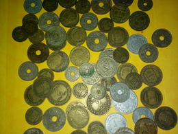 LOT DE 285 Grammes ANCIENNES MONNAIES FRANÇAISES DIVERSES ANNÉES VOIR PHOTOS Non Nettoyées - Kilowaar - Munten