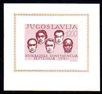 YUGOSLAVIA 1961 Non-aligned Nations Block MNH / **..   Michel Block 7 - Blocks & Sheetlets
