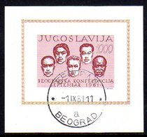 YUGOSLAVIA 1961 Non-aligned Nations Block Used..   Michel Block 7 - Blocks & Sheetlets