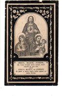 MARIA-LUDOVICA VAN DEN BOSSCHE ° BELCELE 1827 + ST. NICOLAAS 1901 / CAROLUS VAN DEN BOSCH - Images Religieuses