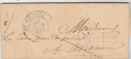 Lettre De Commissariat De GRASSE ( Cachet ) Var 27/6/1835 PP Port Payé Pour Maire D' Avignon Vaucluse - Storia Postale