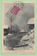 """DAGUIN - """"MEGEVE ALT. 1113m ENSOLEILLE HIVER ETE"""" - Sur CP + DAGUIN """"LARAGNE SON AIR PUR ET SES VERGERS"""" En ARRIVEE - - 1921-1960: Modern Period"""