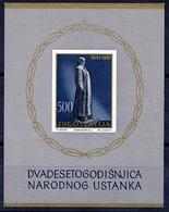 YUGOSLAVIA 1961 20th Anniversary Of Insurrection Block MNH / **.  Michel Block 6 - Blocks & Sheetlets