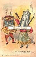 Top Chromo !!! Chocolat De L'UNION - Esprit Des Choses : Ne Pas S'arracher Le Nez Pour Dépit à Visage  Scans Recto Verso - Autres
