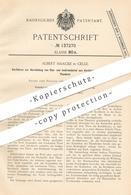 Original Patent - Albert Haacke , Celle , 1901 , Baumaterial , Isoliermaterial Aus Kork , Pech , Tonbrei   Dämmung !!! - Documents Historiques