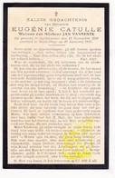 DP WO I En Exil 14-18 Eugenie Catulle ° Ingelmunster BE † Berck-sur-Mer FR Pas-de-Calais 1917 X JB. Vanneste ° Roeselare - Images Religieuses