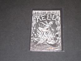 """PARIS - MONTMARTRE - CABARET """"THE HELL"""" - Illustrateur ALEXANDER - Carton En Anglais - Publicités"""