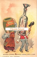 Top Chromo !!! Chocolat De L'UNION - Esprit Des Choses : L'un économe, L'autre Ivrogne, Gare à Casse - Scans Recto Verso - Autres