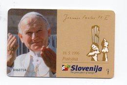 Impulz 20 Imp. Phonecard - Joannes Paulus - Slovenia