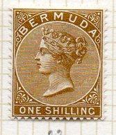 AMERIQUE DU NORD - BERMUDES - (Colonie Britannique) - 1884-93 - N° 23 - 1 S. Bistre - (Victoria) - Bermudes