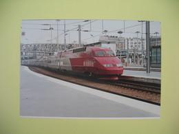 Carte 15-16 Juin 1996  150 Ans De Chemin De Fer à  Creil  Thalys- Rame Présérie - Trains