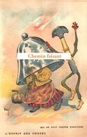 Top Chromo !!! Chocolat De L'UNION - Esprit Des Choses : Qui Ne Peut Couper, égratigne- Scans Recto Verso - Autres
