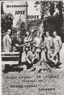 CPSM 46 FIGEAC ORCHESTRE JOSE ROUX DISQUE BARCLAY - Figeac