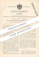Original Patent - Mathias Thür , Salzburg , 1899 , Edle Verzierungen Auf Holz , Leder Durch Einbrennen   Papier !!! - Documents Historiques