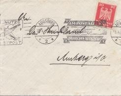 """DEUTSCHES REICH 1941 - 10 Pf Auf Brief M.Sonderstempel """"IM POSTAUTO DURCHS ALLGÄU"""", Gel.v. Augsburg > Amberg - Alemania"""