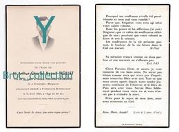 Crombeke, Frettemolle-Brettencourt, Mémento Athur Charles Benoît Nollet, 1944, 29 Ans Fils Léon Et Pharaïlde Decostère - Images Religieuses