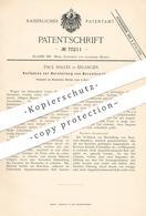 Original Patent - Paul Haller , Erlangen , 1892 , Bernstein - Imitation   Glas , Harz , Kali , Knopf , Knöpfe !! - Documents Historiques