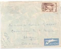 DAKAR Sénégal Ob Sur Timbre 5 F Côte D'ivoire Brun Yv 130 - Briefe U. Dokumente