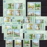 Imperforiert 2006 BOSNA 339/2,ER,4 ZD,4-Block+Bl.13 ** 420€ 50 Years EUROPA Blocs Natur Se-tenant Bf Serbija-Mostar - Bosnie-Herzegovine