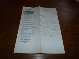 Document Commercial Facture A. Bougard Manage 1899 Verreries De Manage - Belgique