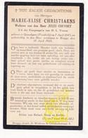 DP Im. Pieuse - Marie E. Christiaens ° Quaëdypre Kwaadieper FR Nord 1845 † Brugge BE 1925 X Jules Coevoet - Images Religieuses