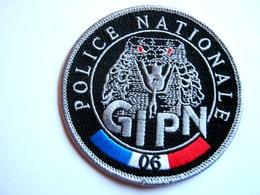 ECUSSON TISSUS PATCH POLICE NATIONALE LE GIPN DU 06 ETAT EXCELLENT - Police & Gendarmerie