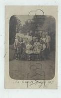 Les Essarts (85) : GP De La Famille Halipré Dans Le Jardin De Leur Villa Bourgeoise En 1907 (animé) CP PHOTO RARE. - Les Essarts