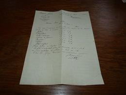 Document Commercial Facture Braun Frères Gand 1901 - Belgique