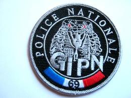 ECUSSON TISSUS PATCH POLICE NATIONALE LE GIPN DU 69 ETAT EXCELLENT - Police & Gendarmerie