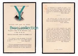 Chalon-sur-Saône Ou Environs, Mémento De Pierre Granger, 26/12/1952, 69 Ans, Croix De Guerre 14-18, à Localiser - Images Religieuses