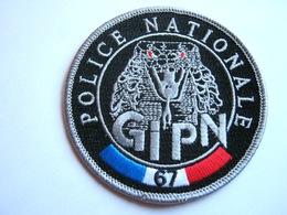 ECUSSON TISSUS PATCH POLICE NATIONALE LE GIPN DU 67 ETAT EXCELLENT - Polizia