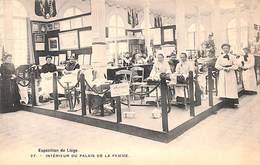 Liège Expo 1905 - Intérieur Du Palais De La Femme (Bertels, Animée, Dentelle) - Liege