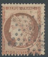 Lot N°47028  Variété/n°38, Oblit étoile Chiffrée 14 De PARIS (R.de Strsbourg), Couleur OCRE - 1870 Siege Of Paris