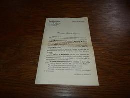 Document Commercial Facture Jean Braeckmans +/- 1900 Droguiste Anvers - Belgique