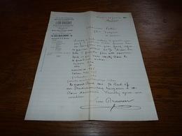 Document Commercial Facture Léon Brassart Bruxelles 1900 Droguerie Et Herboristerie - Belgique
