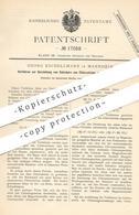 Original Patent - Georg Eschellmann , Mannheim , 1881 , Darst. Von Salzsäure Aus Chlorcalcium U. Chlormagnesium   Chemie - Documents Historiques