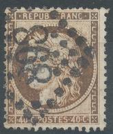 Lot N°47030  Variété/n°38, Oblit GC 898 Charleville, Ardennes (7), Couleur BRUN Foncé - 1870 Siege Of Paris