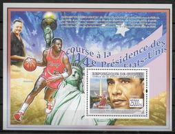 GUINEE BF 901  * *  ( Cote 13e ) President Barack Obama Martin Luther King Basket Statue De La Liberté - Martin Luther King